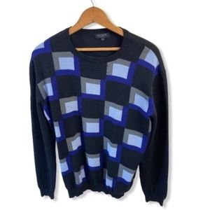 Ted Baker Checkerboard Wool Men Sweater size L